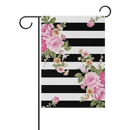 Amazon com : Top Carpenter Flowers On Black White Stripe