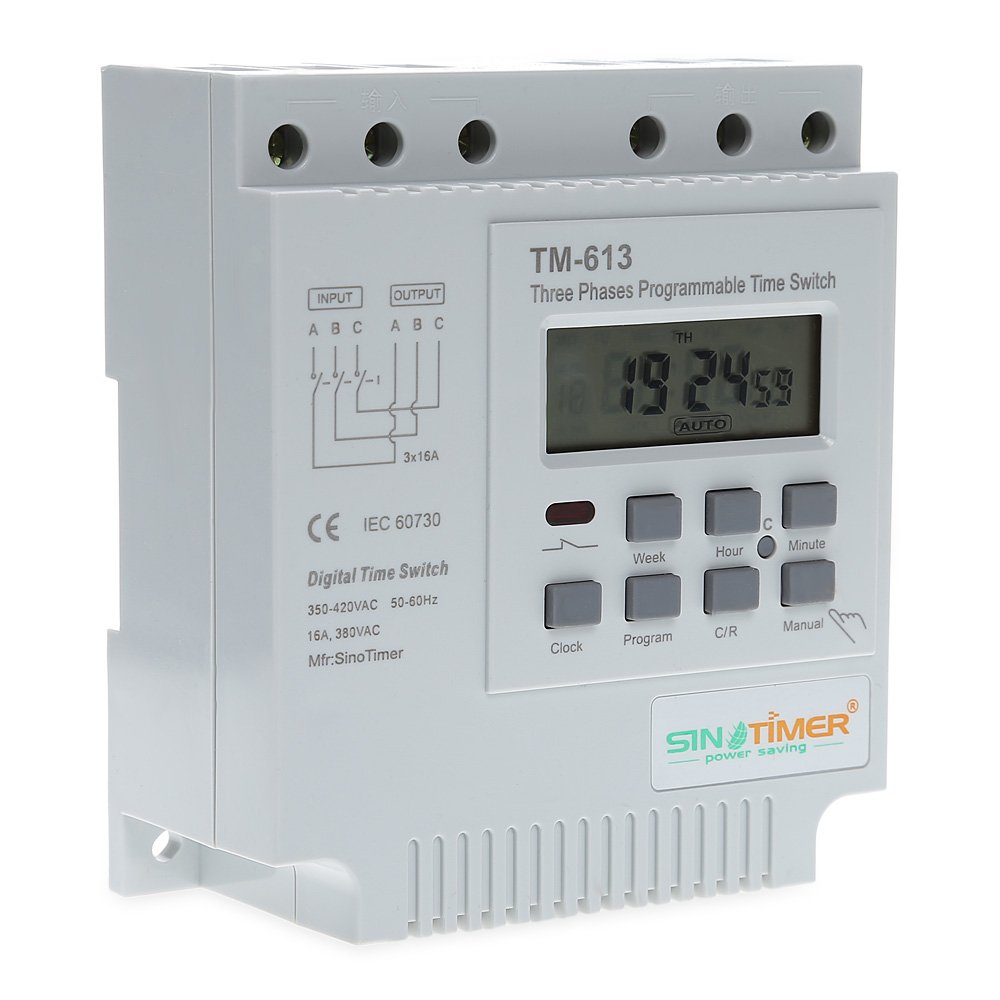380V LCD Digital Multipurpose Three Phases Programmable Control Power Timer Switch