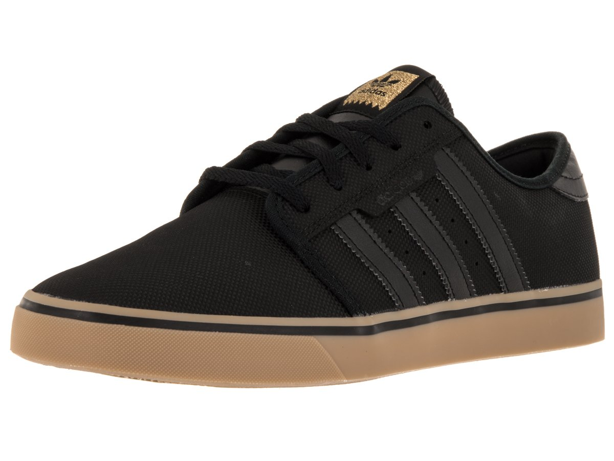 adidas Originals Men's Seeley Lace up Shoe B0113PJ466 8 D(M) US|Black/Black/Gum