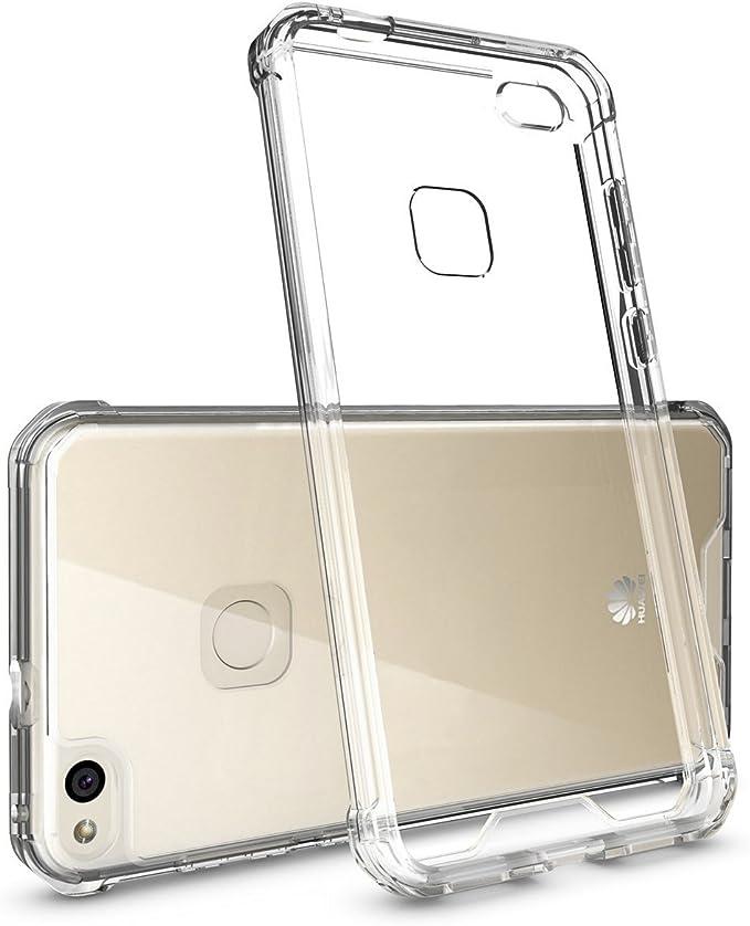 REY Funda Anti-Shock Gel Transparente para Huawei P9 Lite, Ultra ...