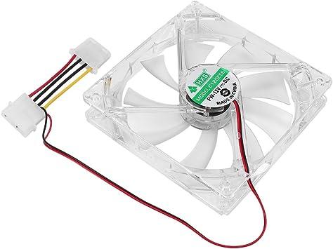EdBerk74 Ventilador para computadora PC Quad 4 Luz LED 120mm Caja ...