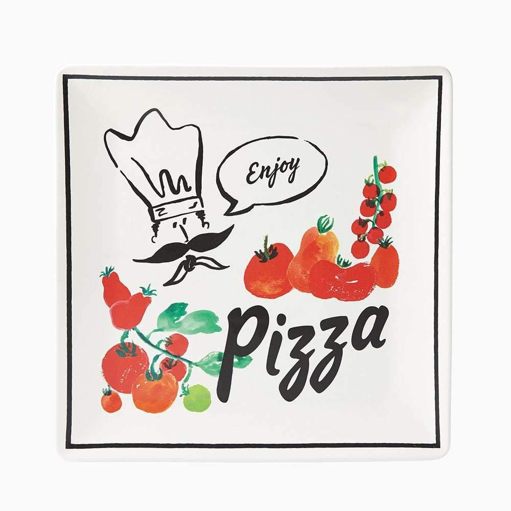 Kate Spade New York All In Good Taste Anyway You Slice It Pizza Square Tray by Kate Spade New York (Image #1)