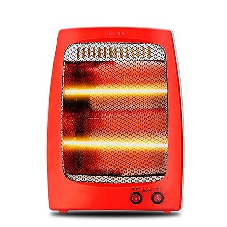 LVZAIXI Calentador Pequeño Sol Hogar Calentador eléctrico de bajo Consumo Estufa de Asar a la Mesa