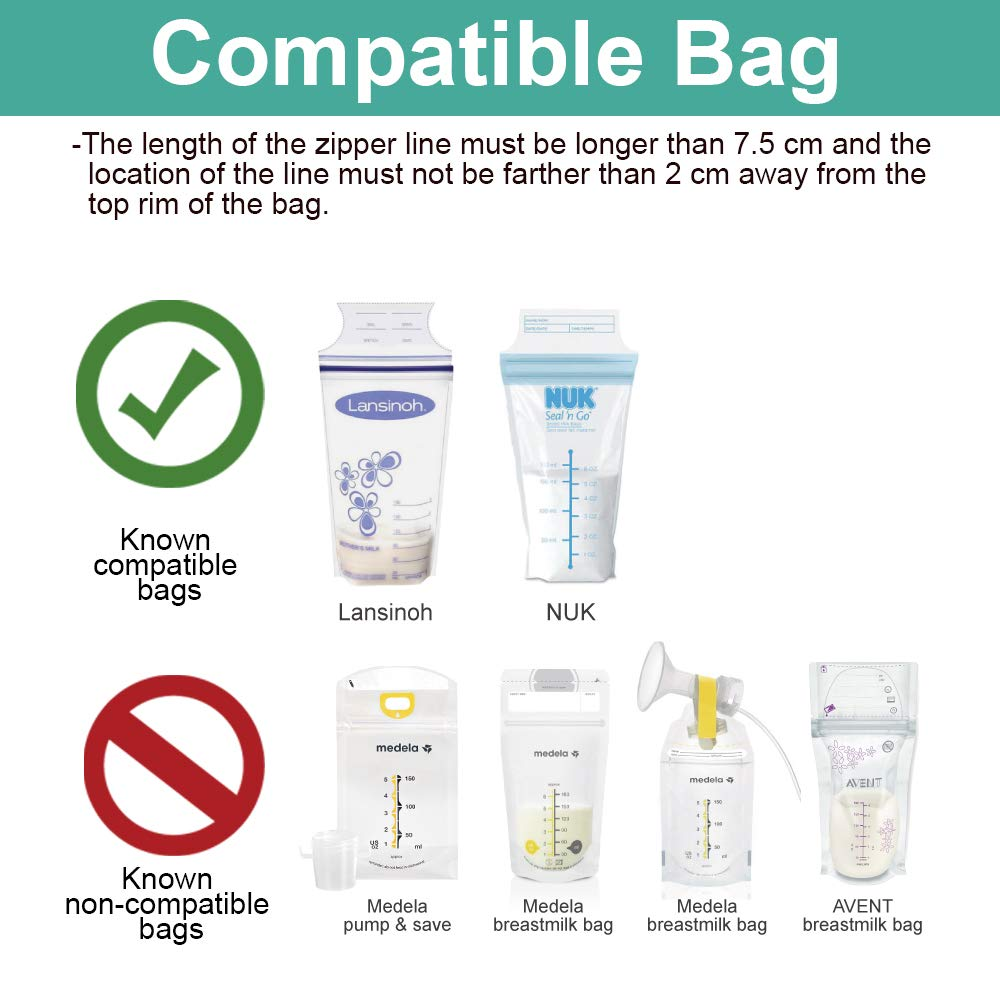 Maymom Breastmilk Storage Bag Adapters for Avent, Spectra S1, S2 Pumps with Wide Mouth Flange; Clear BPA Free Material; Boiling Water Safe; Do Not Use ...