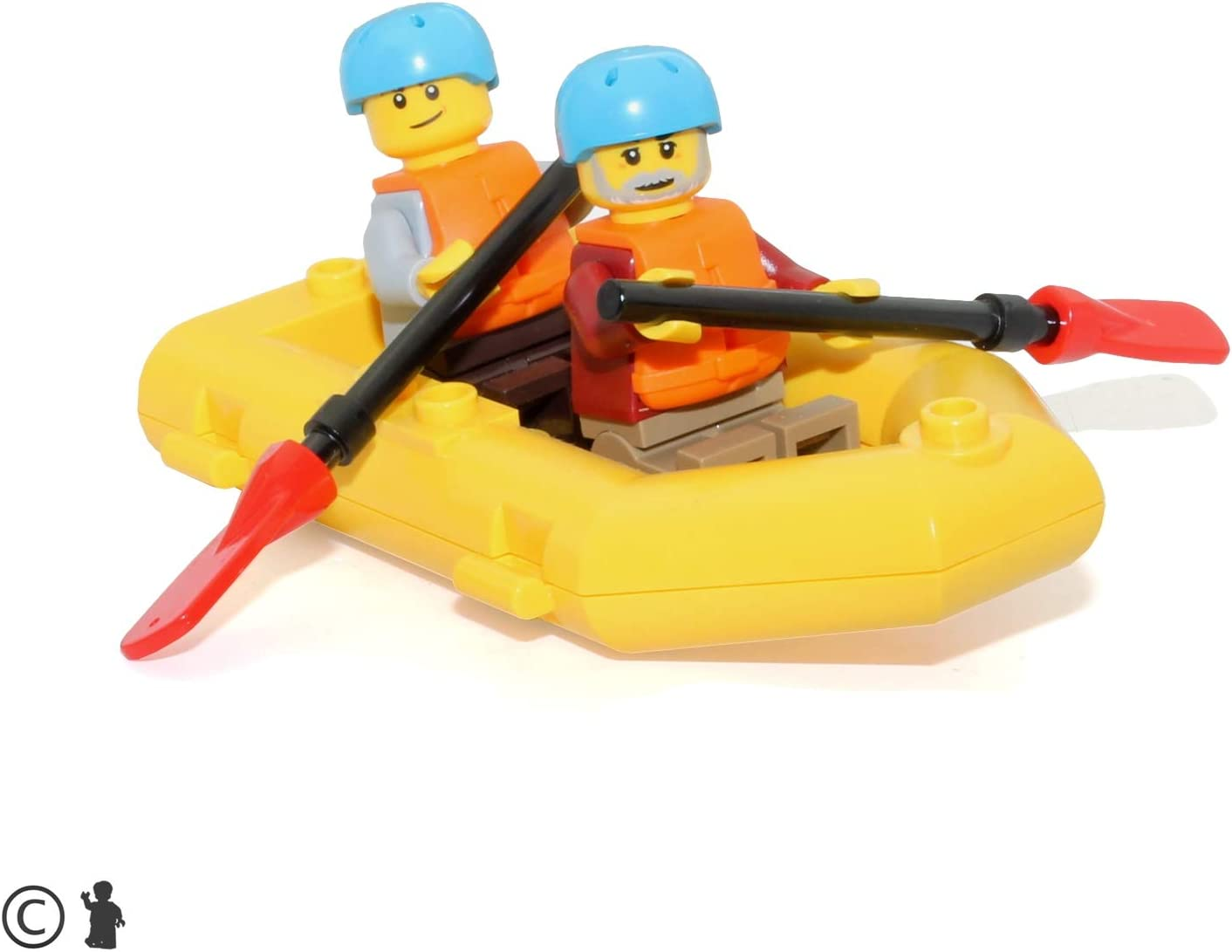 LEGO Outdoor Adventure Minifigure: River Rafters (with Raft and Oars) 60202