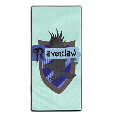 6d58cf83a4 Yaieia Harry Potter Cards Ravenclaw Crest Polyester Velvet Bath Face  Towels  Amazon.co.uk  Kitchen   Home