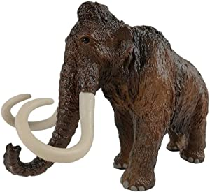 ZHUAN Mammoth Figurine Sculpture Home Decoration Outdoor Garden Statue Ice Age Animal Model Collection Ornaments Children's Toys Gifts 20 X 6 X 13CM