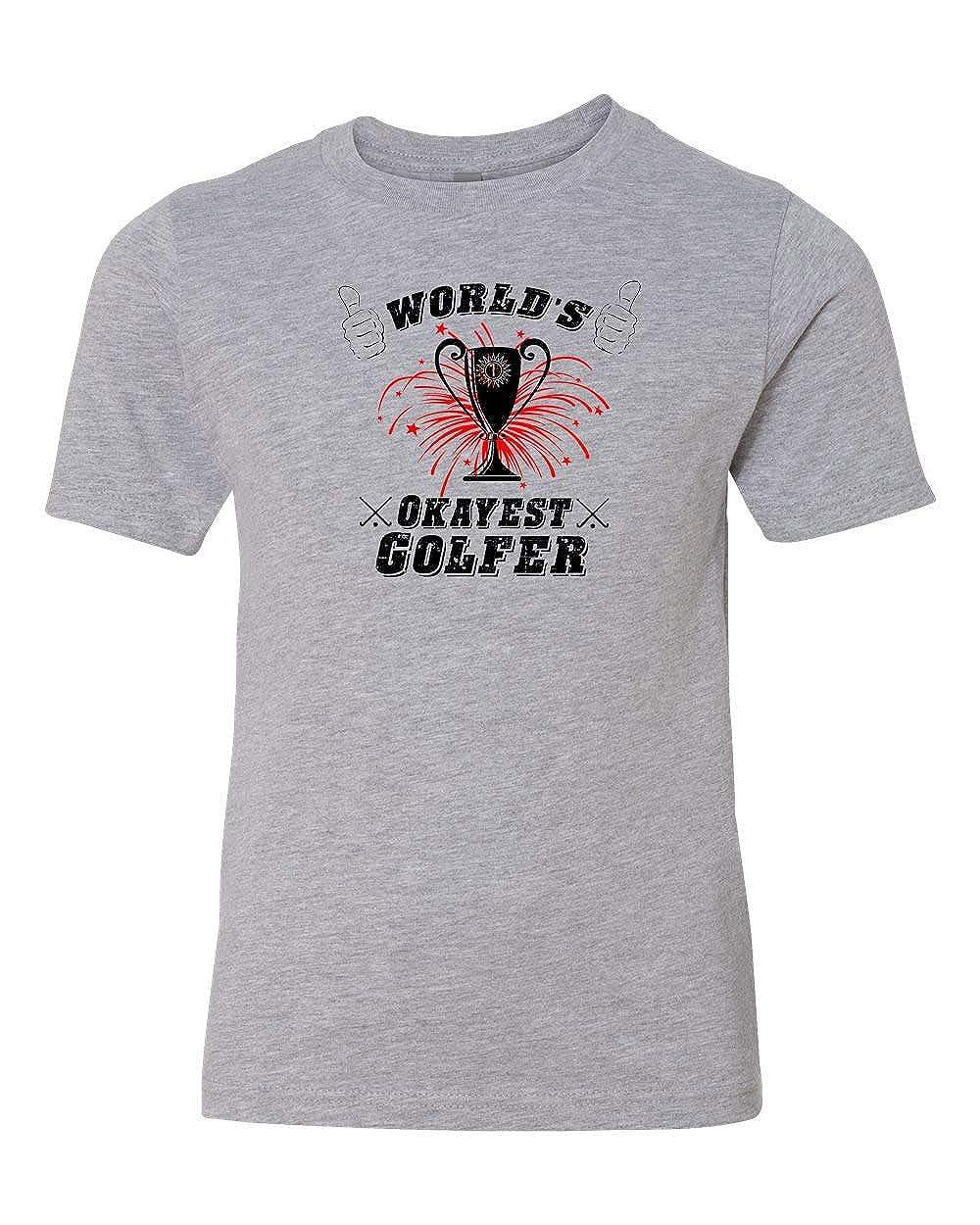 Custom Apparel R Us Worlds Okayest Golfer Girls Boys Short Sleeve