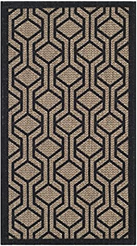 Safavieh Courtyard Collection CY6114-81 Brown and Black Indoor/ Outdoor Area Rug (2' x 3'7
