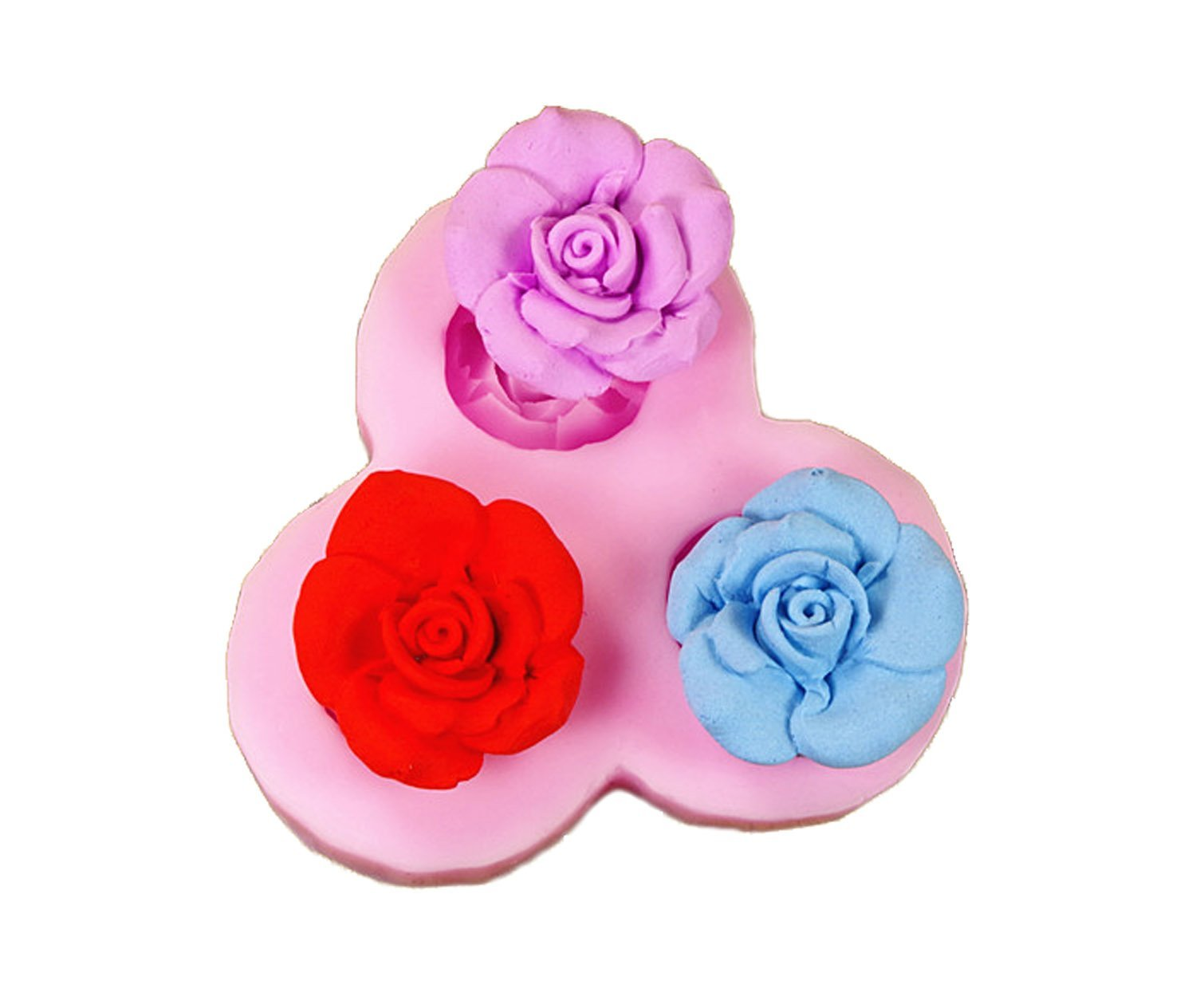 Longzang F0070 Flower Fondant Silicone Sugar Craft Mold, Mini, Pink F488