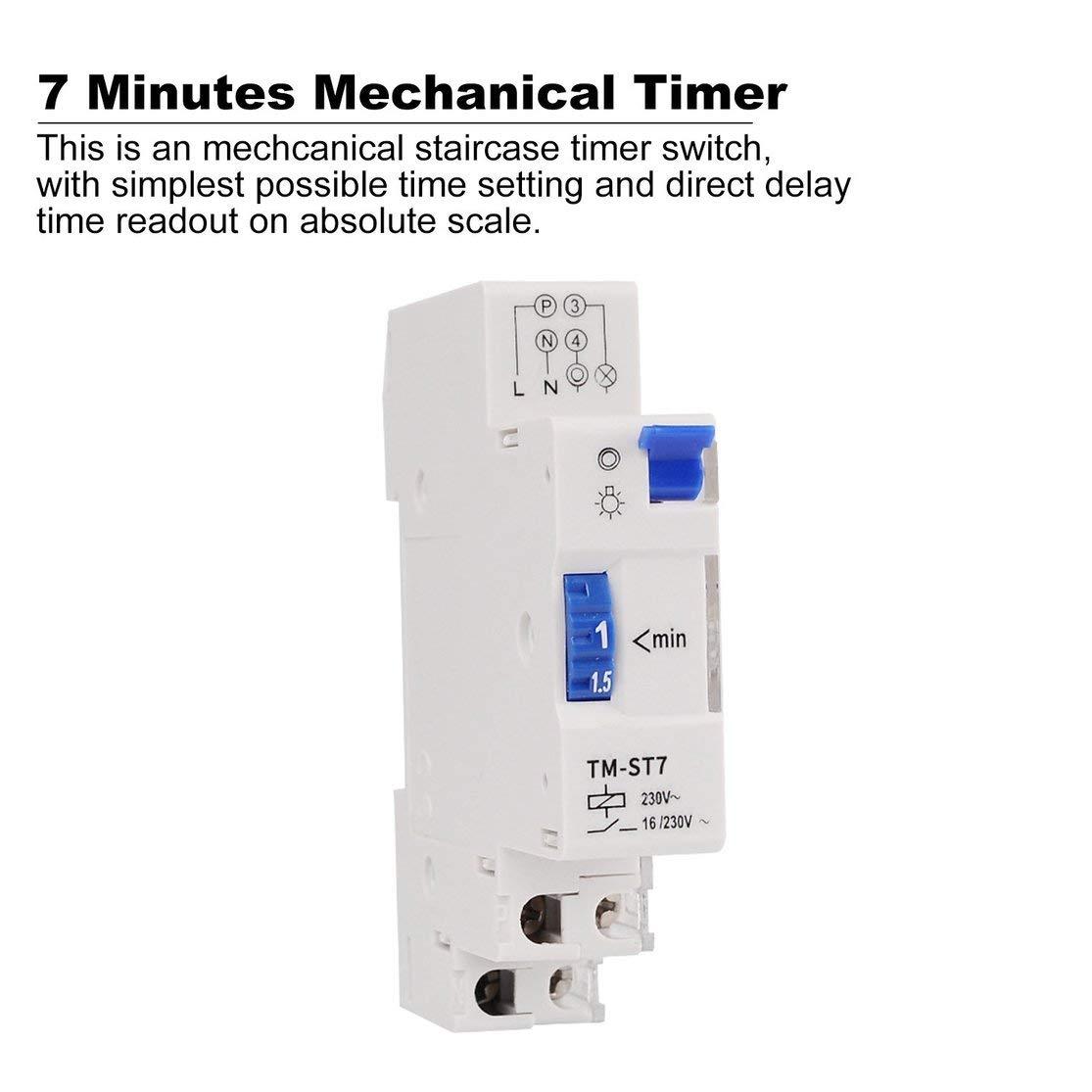 Candybarbar SINOTIMER TM-ST7 220V 7 Minutos Temporizador mecánico ...
