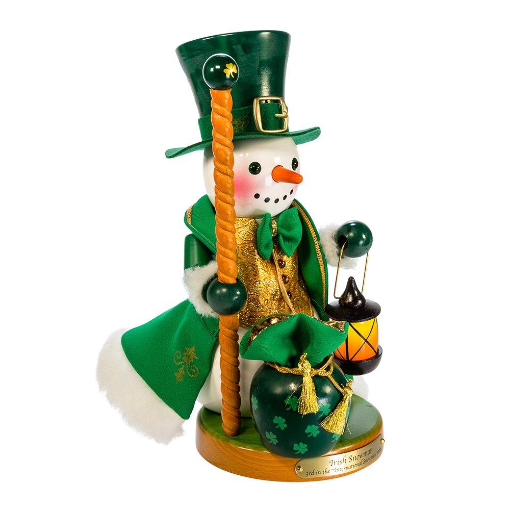 Kurt S. Adler 12.5'' Steinbach Irish Snowman Nutcracker