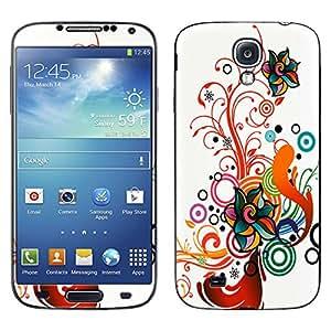 Skin Decal for Samsung Galaxy S4 - Autumn Flower
