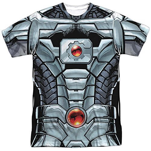 Cyborg Costume -- Justice League All-Over Front/Back T-Shirt, XXX-Large