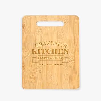 Personalizado directa cocina de la abuela personalizada tabla de cortar   Amazon.es  Hogar 59bf72db6417