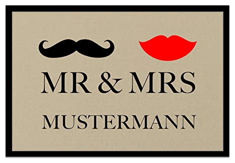 Gut bekannt Amazon.de: Loose Werbetechnik Fußmatte 'Mr. & Mrs. ' Inkl. Ihrem XU53