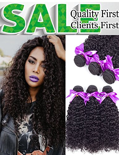 Malaysian Curly Virgin Hair 3 Bundles 100% 8A Unprocessed Malaysian Sexy Curly Weave Human Hair Extensions Natural Color Mix Length(12 14 16)