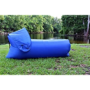Inflatable Lounger Air Sofa. For Indoor-Outdoor Camping Picnics, Hiking, Backyard, Beach, Pool And River Floating. The Strongest Water Proof& Anti-Air Leaking Design. Portable Hammock.