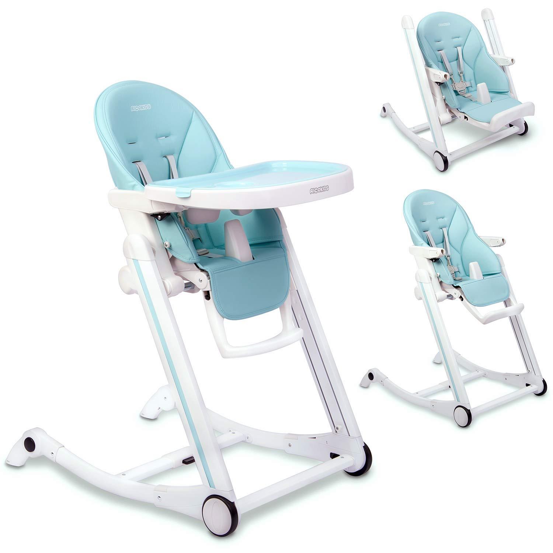 Kinder Hochstuhl Kindersitz mit Tablett 2in1 Babyliege-Funktion Sicherheitsgurte Ricokids Tugo