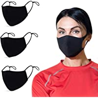 WODFitters Cloth Face Masks with Adjustable Ear Loops for Gym and Life - Reusable, Washable Black Cloth Masks with…