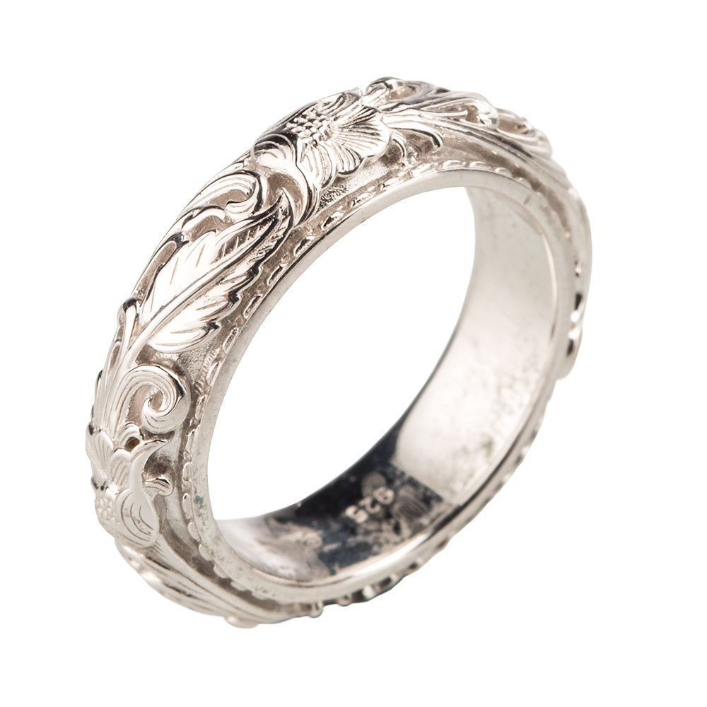 Montana Silversmiths Womens Sterling by Sheridan West 6MM Band Ring 6
