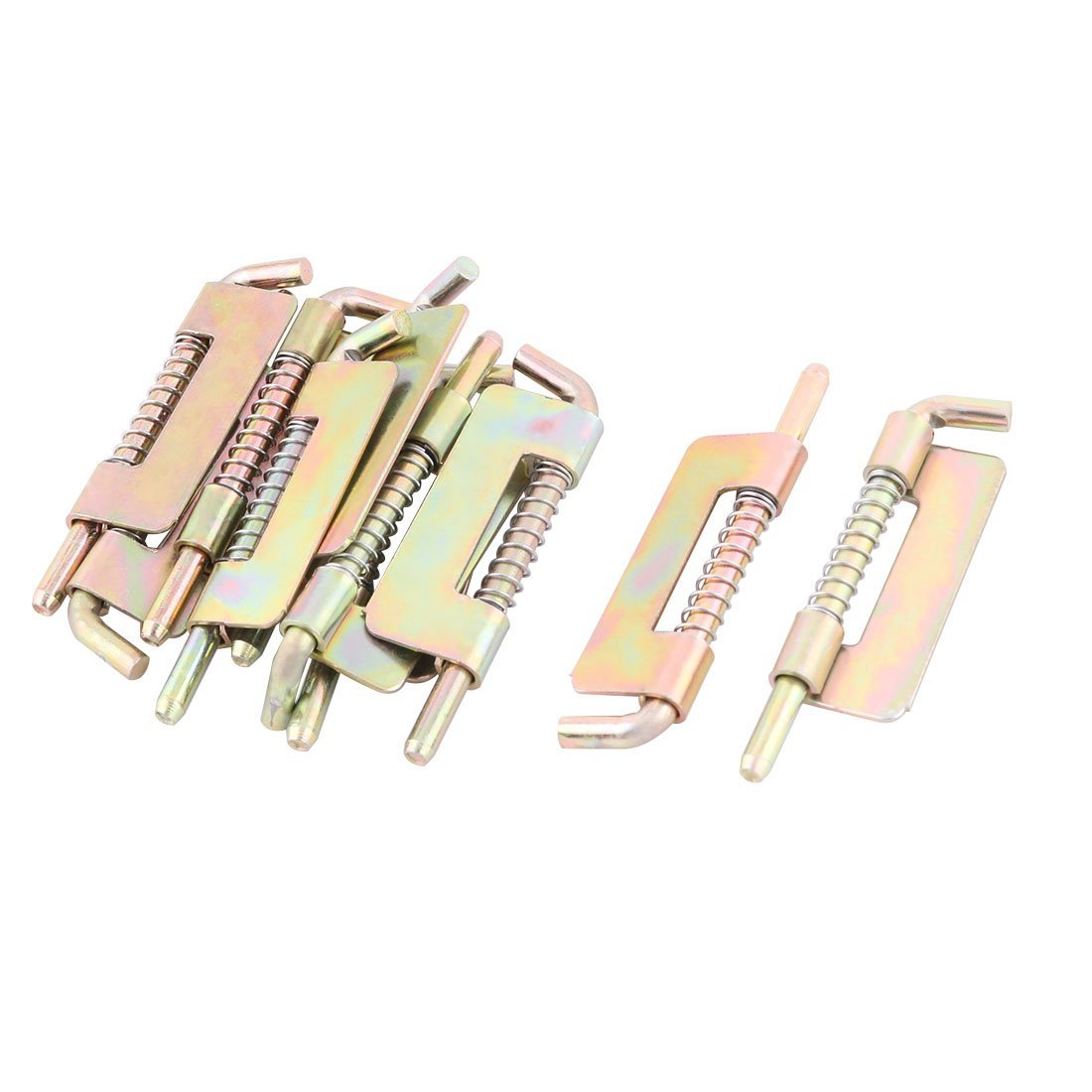 Stainless Steel Hotel Furniture Gate Spring Latch 2.9 Inch Length 10 Pcs Colorful