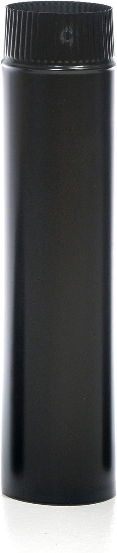 acerto 40622 Ofenrohr emaille 120mm Emailliertes Rauchrohr f/ür Kamin/öfen 25 cm, schwarz