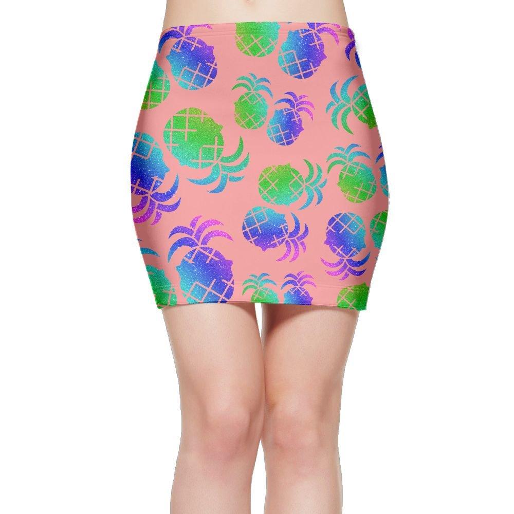 VDF Skirt Pineapple Glasses Starry Gift Women Popular Pencil Skirts Above Knee Mini Skirts