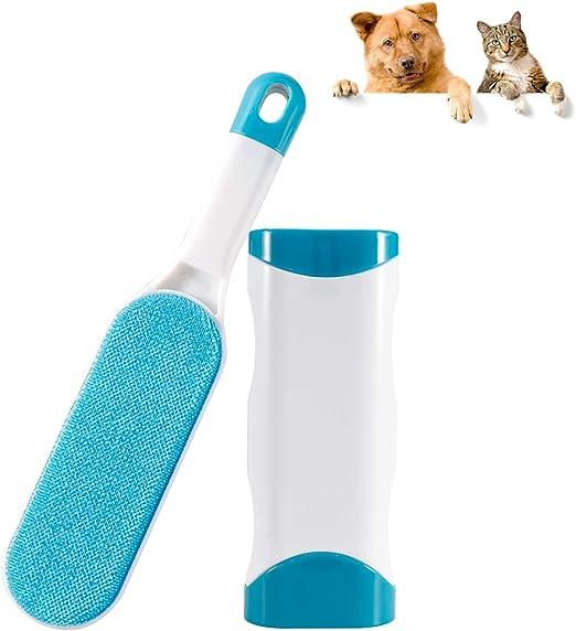 Omasi Quitapelos para Mascotas, Removedor de Pelo para Mascotas Cepillo de Limpieza Removedor de Pelaje para Perro y Gato, Mágico Depilación Eliminador de Pelo para Animales- Azul: Amazon.es: Productos para mascotas