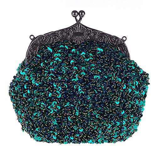 Beads OlisPochette Womens 13 Vintage paillettes Handbag Hand con Night Shoulder WeddingPartyChristmas gyvbYf67