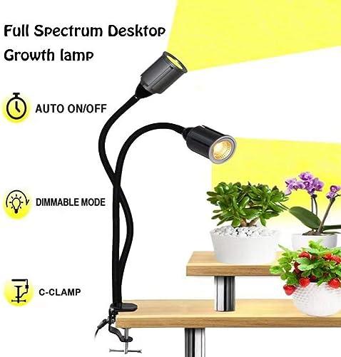 75W Full Spectrum LED Plant Grow Light 3 6 12H Timer CRRE COB Grow Lamp Plant Light-G-clamp 5 Dimmable LED Grow Light Herb Veg Flower