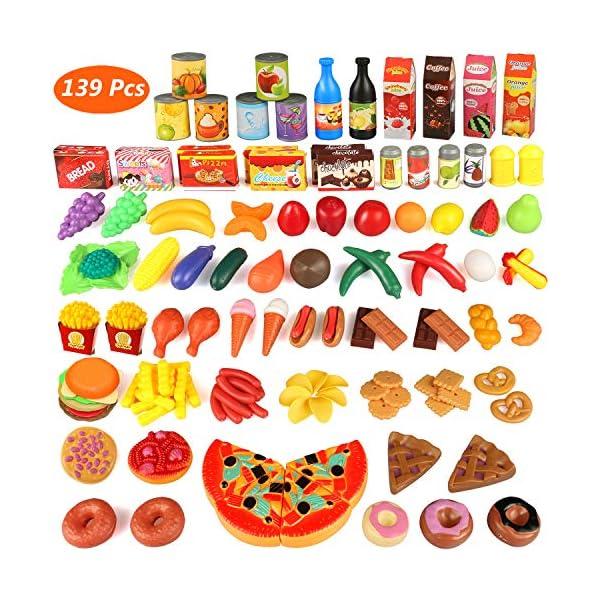 Estela Juguete De Cocina Juego De Comida 139 Piezas Utensilios De
