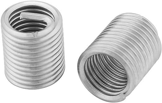 Zerone Thread Repair Kit 60 Pcs Stainless Steel Wire Thread Insert HeliCoil Stripped Thread Rethread Repair with 10x M3 10xM4 10xM5 10xM6 10xM8 5xM10 5xM12