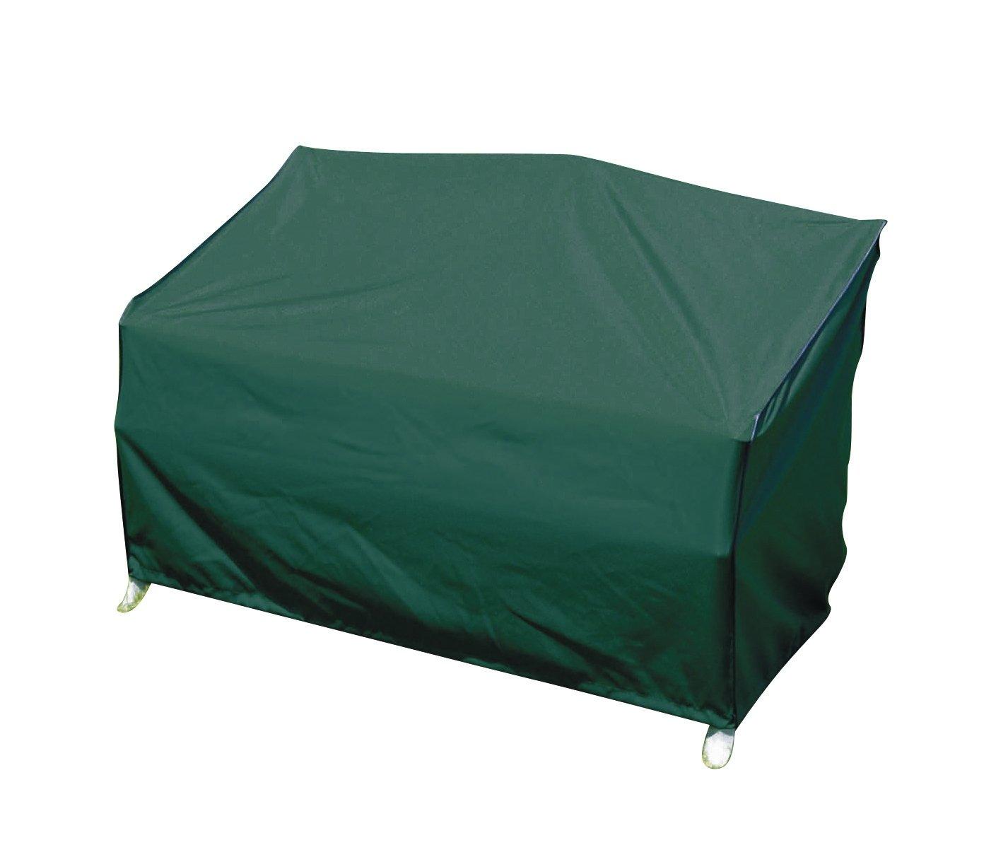 greemotion Schutzhülle für Gartenbank grün, winterfeste Gartenmöbelabdeckung, schmutzabweisende Regenschutzhülle, wasserabweisende Wetterschutz-Hülle, Wetterschutzhaube mit Zugband 438630
