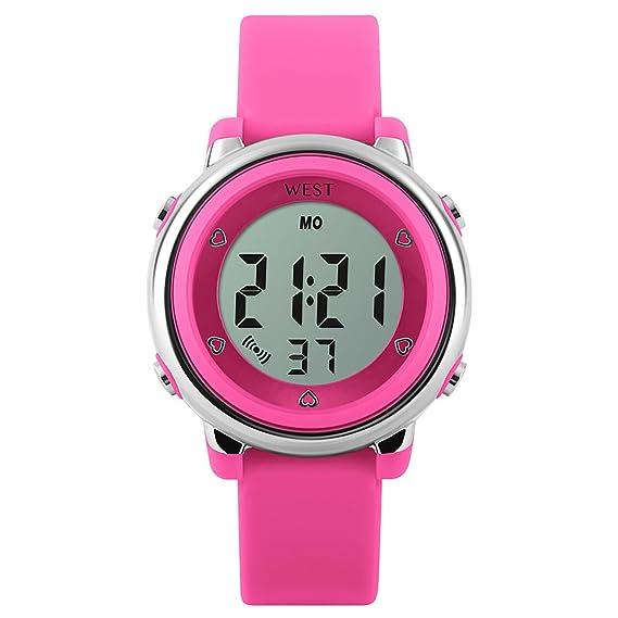 West Watch – Digital infantil de pulsera reloj – Chica – LED – Modelo Star –
