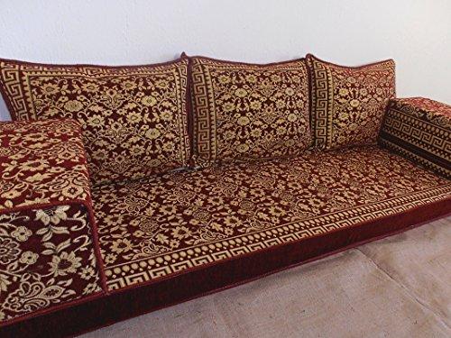 arabic floor seating,arabic sofa,arabic couch,floor seating sofa,oriental seating,hookah bar decor,arabic furniture - MA 58