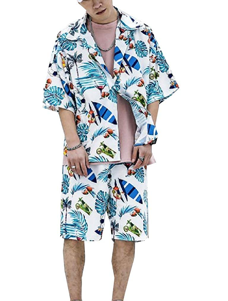 Winwinus Mens Flyaway Comfort Loose Fit Half Pants Shirts Top Palazzo Pant