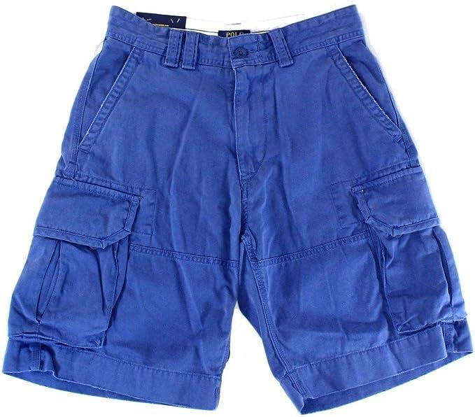 nytt utseende köpa försäljning ansedd webbplats Polo Ralph Lauren Men's Solid Geller Cargo Shorts Blue (30 ...