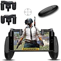 Triggers Mobile Game Controller Gamepad - KACOOL Sensitive Shoot and Aim Fire Buttons L1R1 for PUBG / Knives Out / Rules of Survival, Mobile Gaming Joysticks for Android iPhone (2 X Game Triggers+2 X Gamepads Handle)
