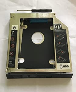 ShineBear 12.7mm SATA 2nd HDD SSD Hard Drive Caddy for Dell Latitude E5420 E5520 E5430 E5530 - (Cable Length: Other)