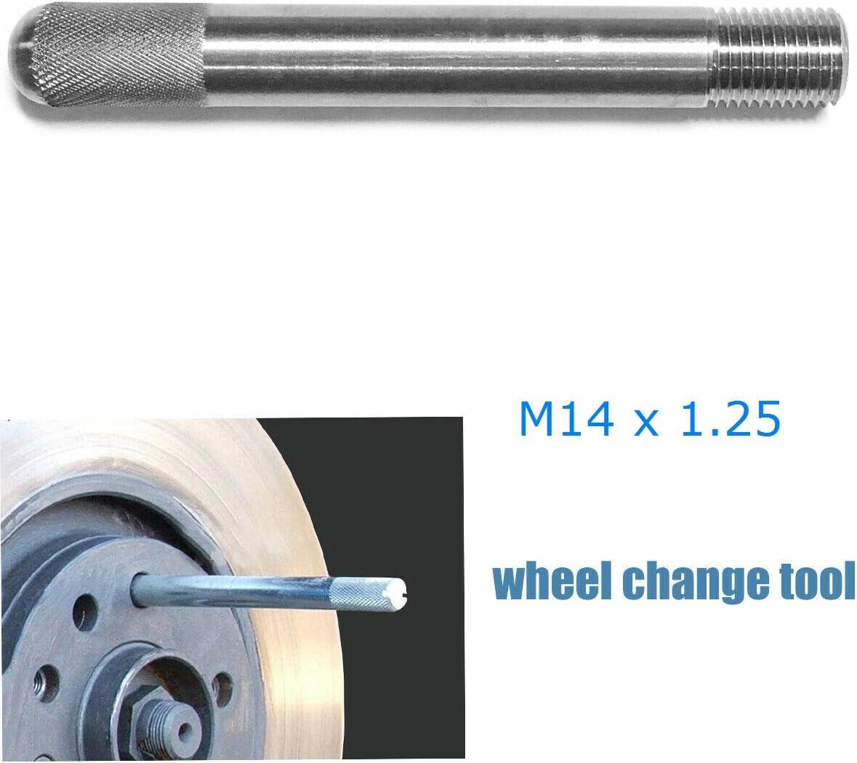 Alu Radmontagehilfe M14x1 5 Reifen Felge Radwechsel Reifenwechsel Radschraube Ausrichthilfe Für Radbolzenmontage Auto