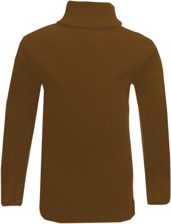 A2Z 4 Kids/® bambini Ragazze Polo Collo T Shirt Ribbed Cotone Polo Rotolo Collo Tuta Lunga Manica Top Et/à 5 6 7 8 9 10 11 12 13 Anni