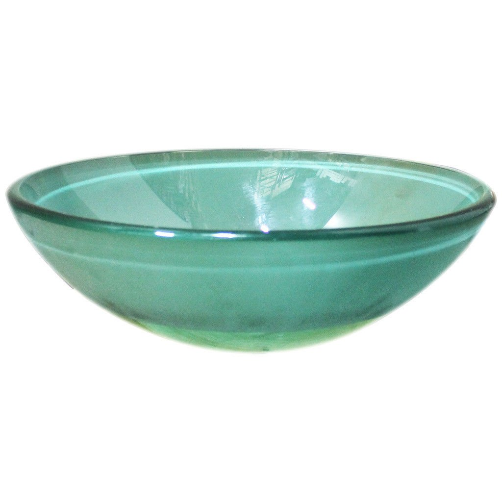 HASTINGS SFERO-FB-GRN Frosted Glass 16-1/2 Round Vessel Bath/Lavatory Sink Green