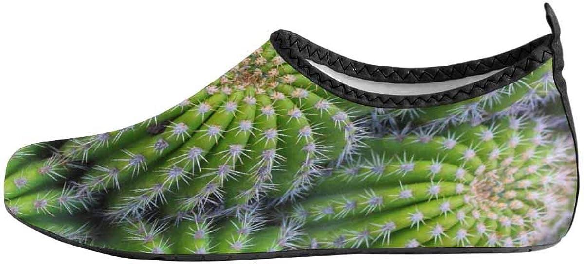 INTERESTPRINT Mens Aqua Water Shoes Cactus Plants Beach Yoga Socks for Surf Swim Water Sport