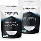 Terrasoul Superfoods Organic Coconut Flakes, 2 Lbs (2 Pack) - Finely Shredded   Macaroon Cut…