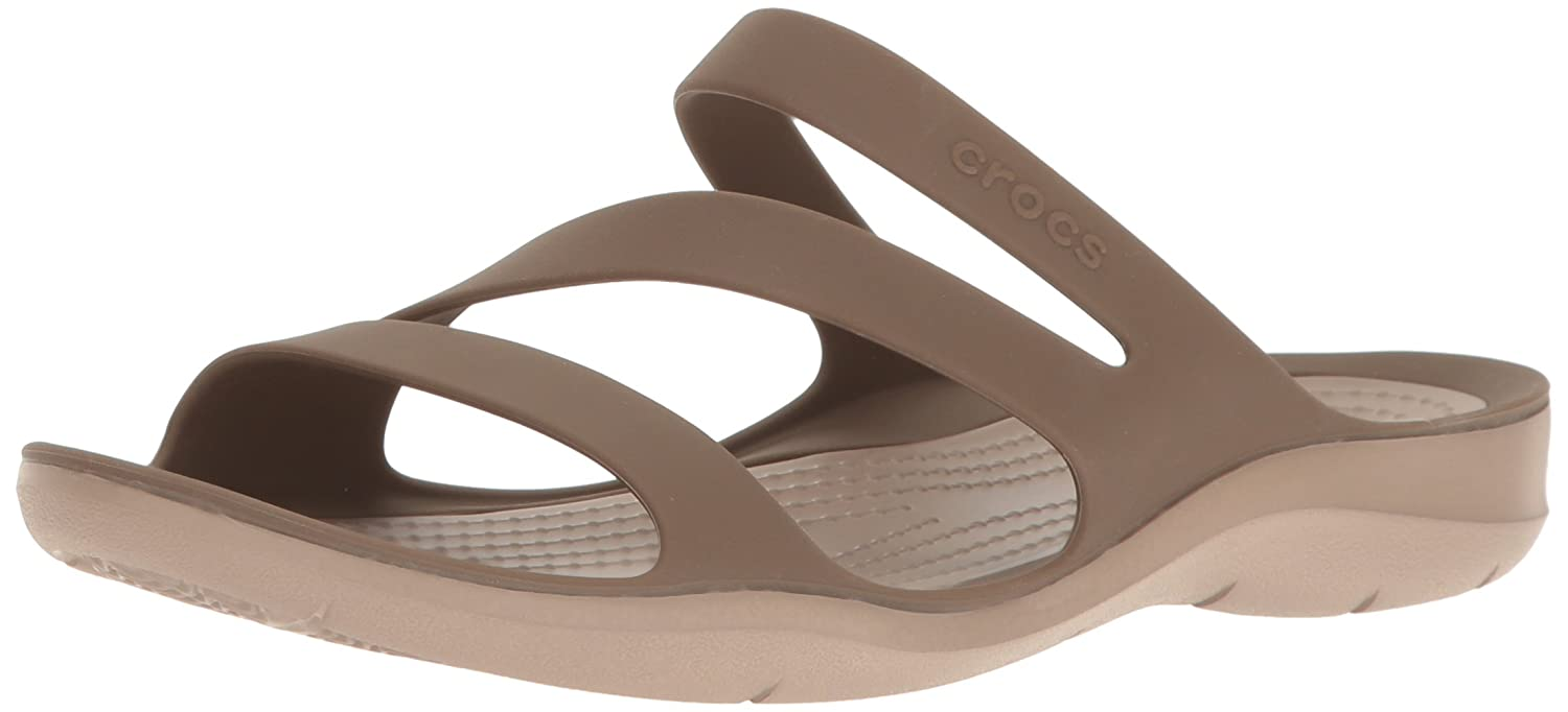 Crocs Women's Swiftwater Sandal B01H6ZR4DW 11 B(M) US|Walnut