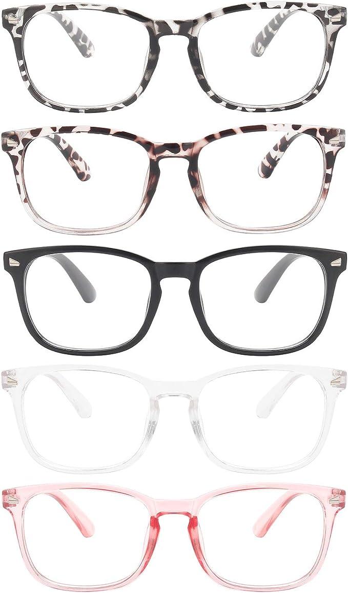 MIGSIR 5 Pack Blue Light Blocking Glasses, Fashion Computer Glasses for Women/men, Anti Glare, UV400, Eye Strain   Amazon