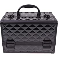 Lurrose Portable Travel Makeup Case Multifunction Travel Cosmetic Bag Train Makeup Case Jewelry Box with Mirror