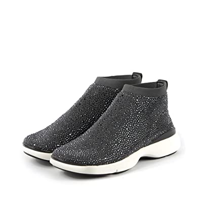 Nagoya Nilda Womens Stardust Gray Sparkle White Sole Ankle Boots
