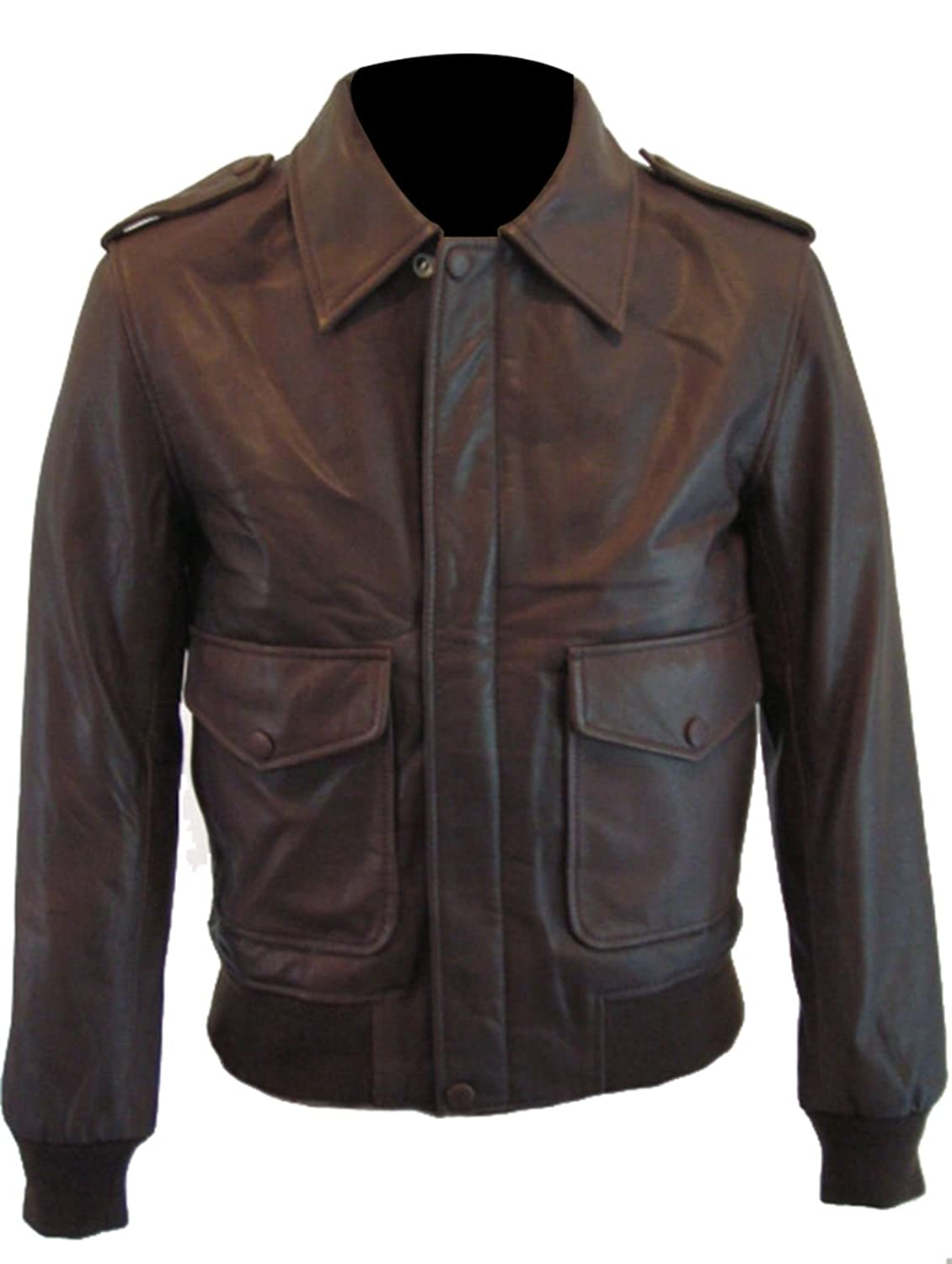 1930 Classic Slim Fit Brown Leather Jacket
